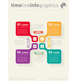 infographic with icons Web Template for diagram vector image