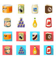 isolated object of can and food sign collection vector image vector image
