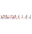 jogging running people sport running group vector image vector image