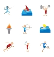 Kind of professional sports icons set vector image vector image
