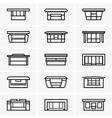 Kiosk icons vector image vector image