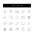 line icons set office pack vector image vector image