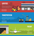 logistics and freight transportation banner set vector image vector image