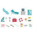 medical equipment cartoon set vector image
