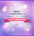 merry christmas and happy new year banner winter vector image vector image