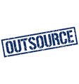 outsource stamp vector image vector image