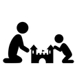 Pictograms Flat Family Icon with Sand Castle vector image vector image
