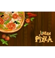 Pizza italian background vector image vector image