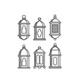 ramadan kareem icon sets lantern vector image