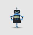 retro vintage funny robot icon in flat vector image