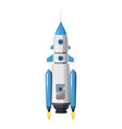 rocket space ship isolated vector image vector image