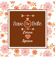 save the date invitation wedding birthday vector image