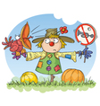 scarecrow - noise prohibited vector image vector image