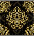 seamless damascus wallpaper pattern vector image vector image