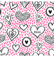 seamless hearts pattern-11 vector image vector image