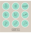 set a stickers beauty and cosmetics icons vector image vector image
