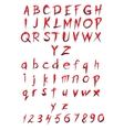 Set of big and small letters and figures vector image vector image