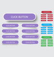 set rectangular buttons with rounded corners vector image vector image