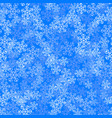 showflakes pattern on blue sky background vector image vector image