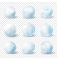 snowballs realistic winter frost set christmas vector image