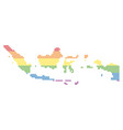 spectrum dot lgbt indonesia map vector image