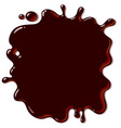 spilled hot chocolate background brown splash vector image