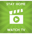 stay home corona virus prevention home quarantin vector image vector image