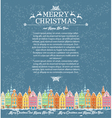 template christmas cards with snowy old town vector image