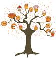 Tree with cakes - concept for the bakery vector image vector image