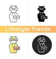 vintage fashion icon vector image