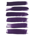 Violet ink brush strokes vector image vector image