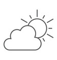 weather thin line icon sky and climate sun and vector image vector image