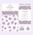 wedding aquilegia complete flower vector image vector image