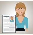 woman cv find person vector image vector image
