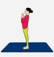 woman doing surya namaskar vector image vector image