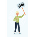 woman holding picket sign vector image