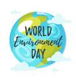 world environment day greeting card vector image vector image
