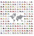 World flags all vector image