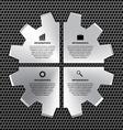 options infographic steel gear vector image