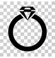 diamond ring icon vector image