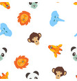 seamless pattern of color animals vector image