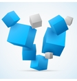 Abstract 3d cubes background vector image