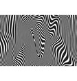 abstract pattern wavy curve lines ripple black vector image
