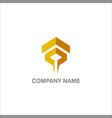 abstract shape geometry company logo vector image vector image