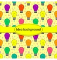 background with light bulb in flat style vector image vector image