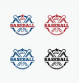 baseball3 vector image vector image