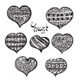 black hearts set vector image vector image