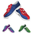 bowling shoes template vector image vector image