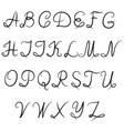 calligraphic alphabet vector image