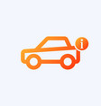 car icon with information sign vector image vector image